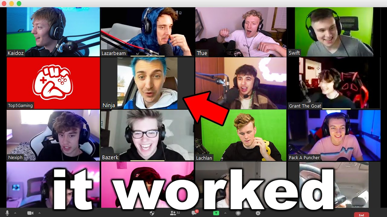 I Got EVERY Fortnite YouTuber In A Zoom Call Together