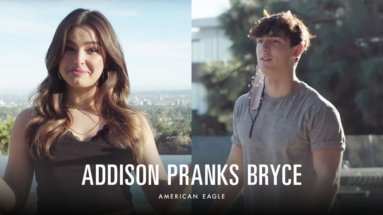 Secret Admirer #AEUnderwear Prank with Addison & Bryce | American Eagle