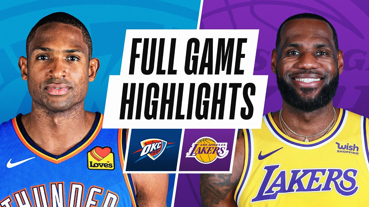 THUNDER at LAKERS | FULL GAME HIGHLIGHTS | February 10, 2021