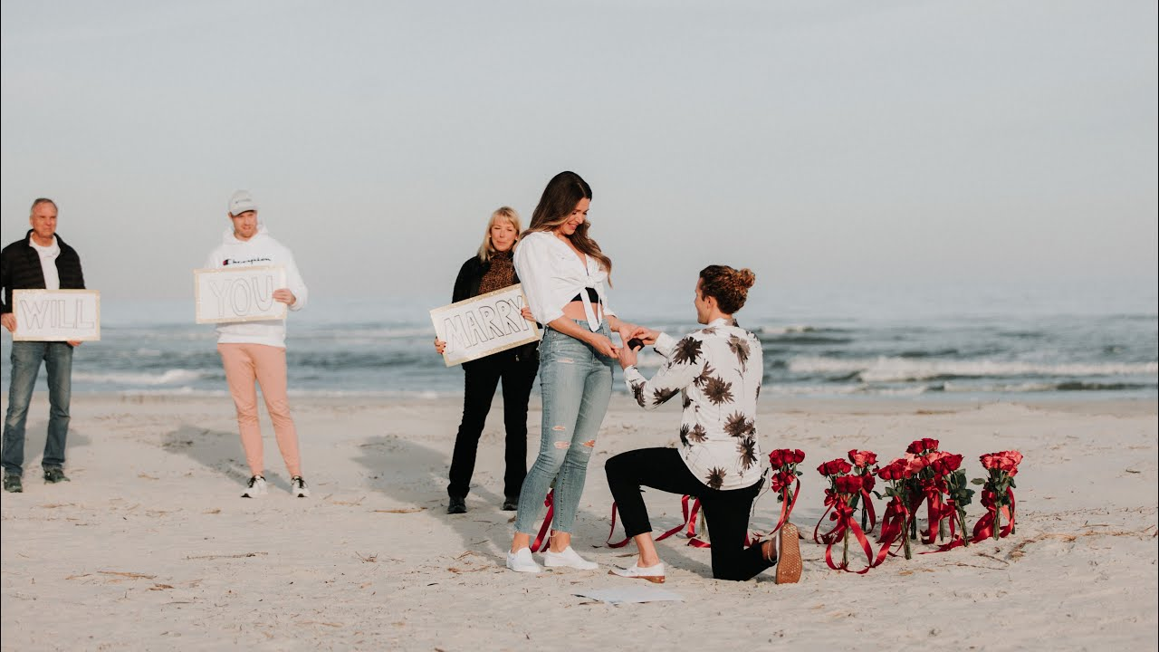 WE'RE ENGAGED! He staged a fake water rescue for the Sweetest Surprise Proposal ❤️ (Tyler & Angela)