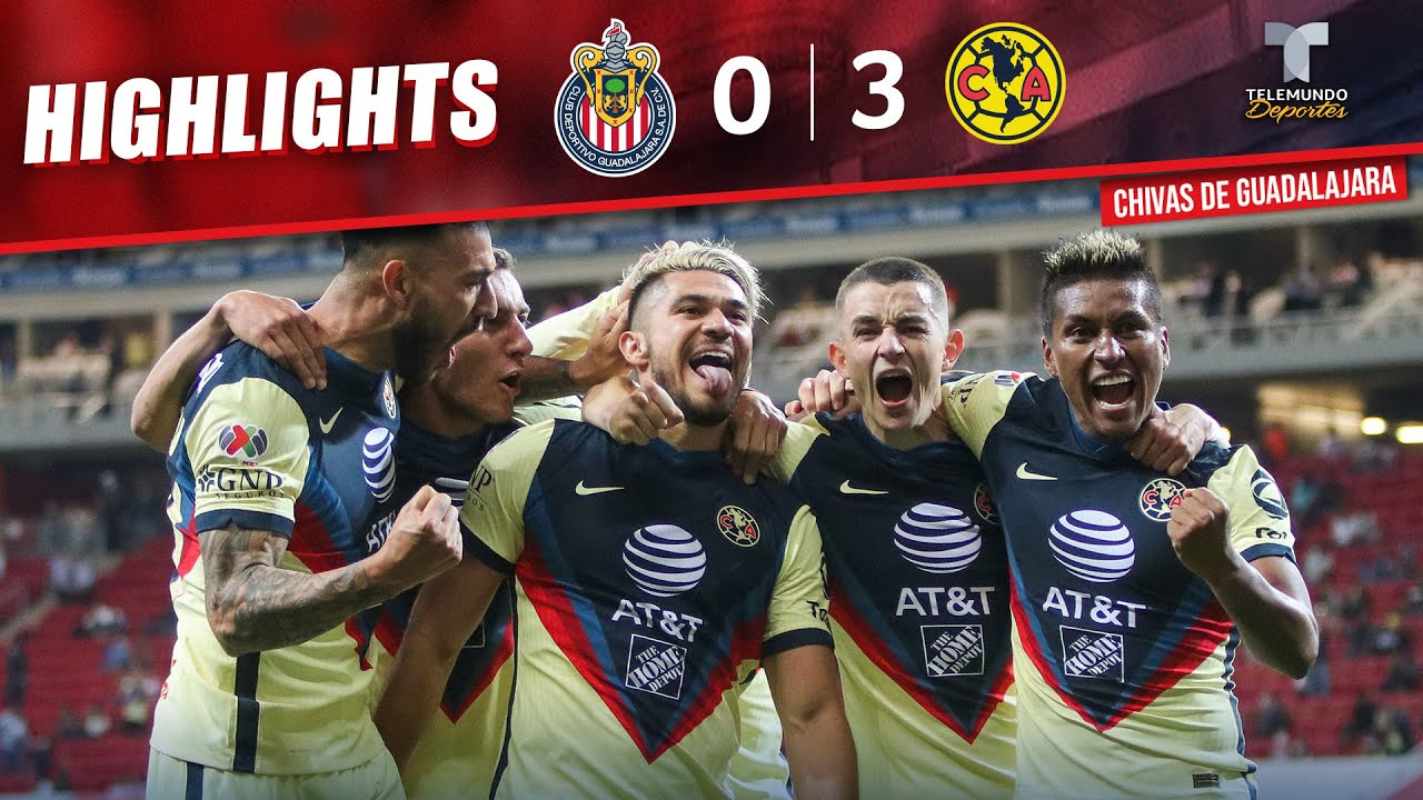 Chivas vs. América  0-3 | Highlights & Goals | Telemundo Deportes