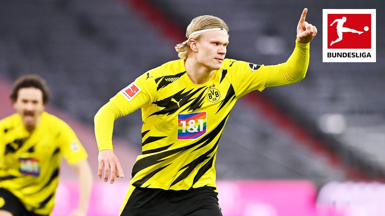 Haaland Scores First Two Goals in Der Klassiker – FC Bayern München vs Borussia Dortmund