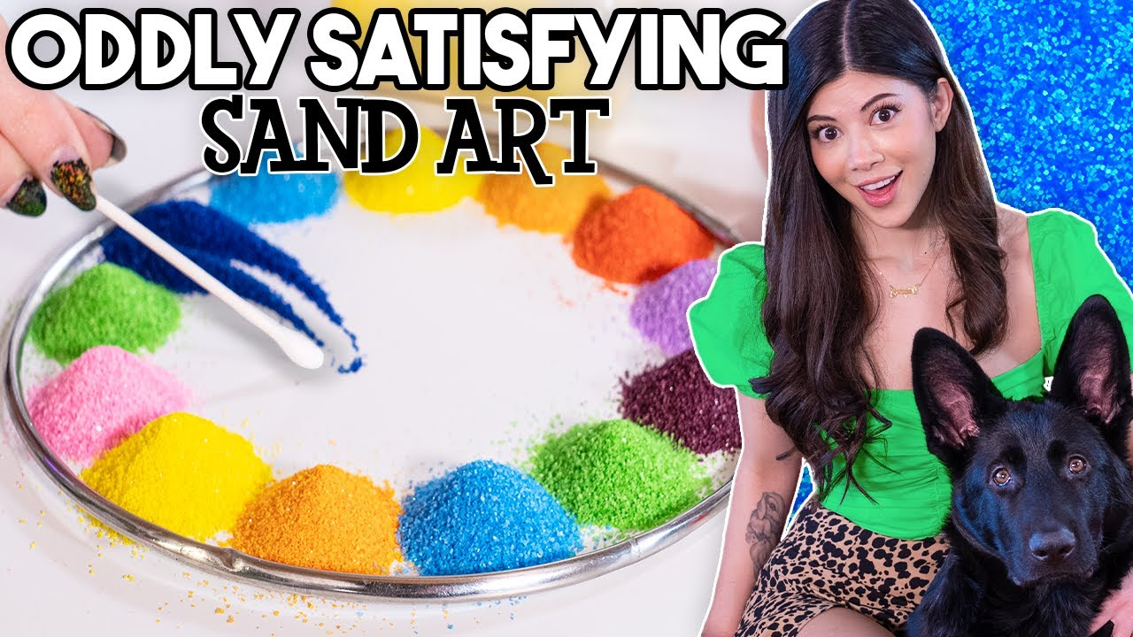 I tried Oddly Satisfying Sand Art!