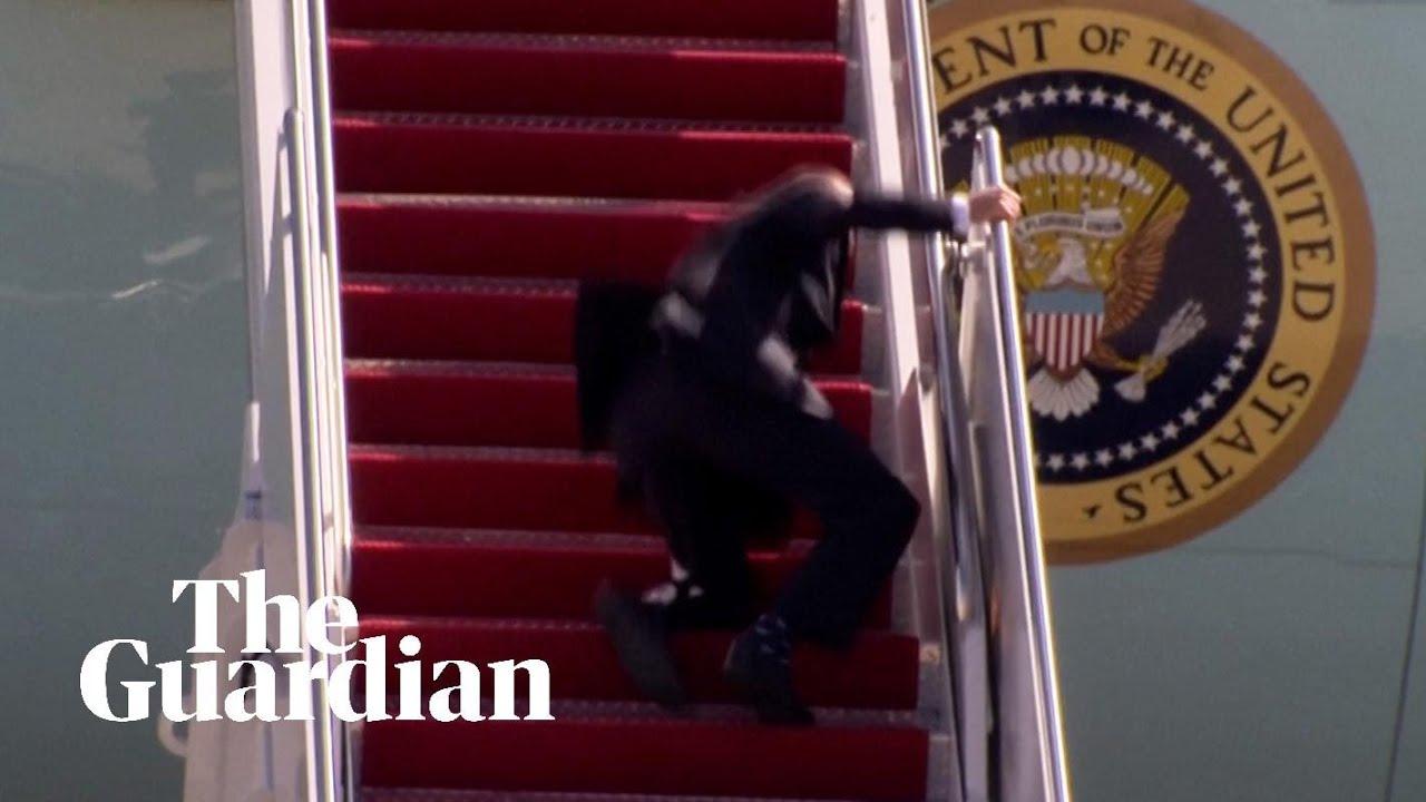 Joe Biden stumbles on steps of Air Force One