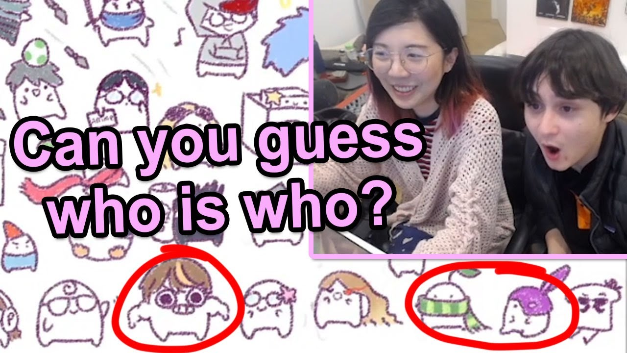 Michael Reeves Guessing Who in Lilypichu Bean Art (OfflineTV & Friends)