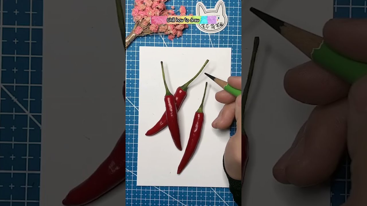 Remember to study before painting , How to draw pepper #drawing #draw #painting I Chill how to draw