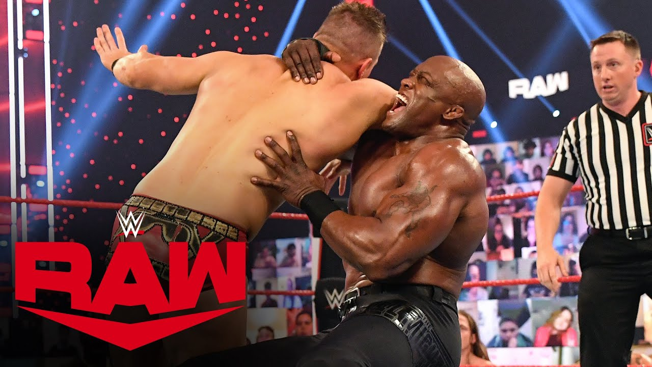 The Miz vs. Bobby Lashley – WWE Championship Lumberjack Match: Raw, Mar. 1, 2021