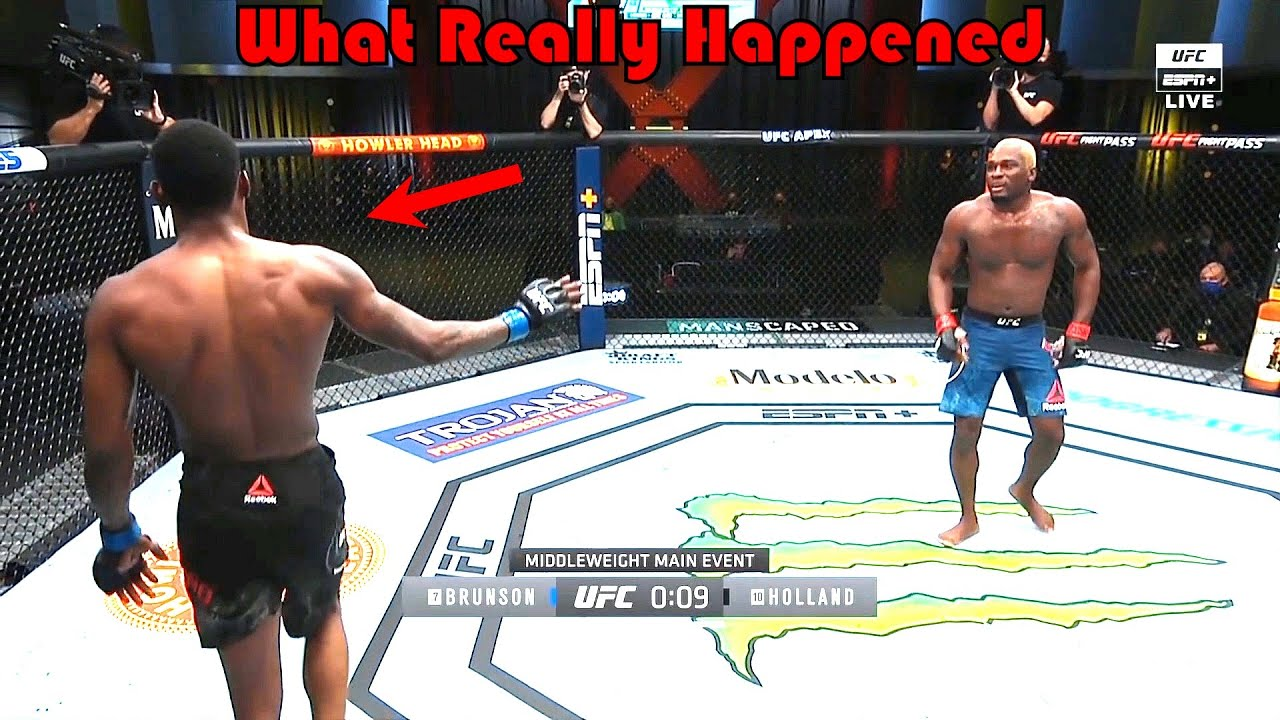 What was that…? (Derek Brunson vs Kevin Holland)