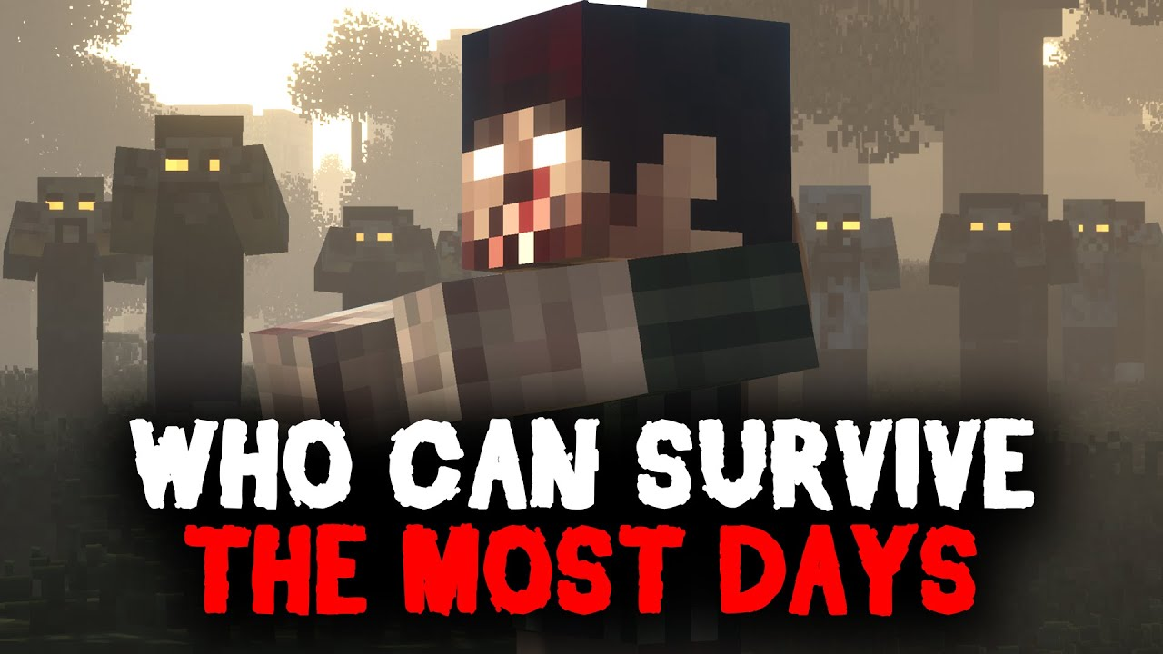 Whoever Can Survive The Most Days In A Zombie Apocalypses In Hardcore Minecraft Wins
