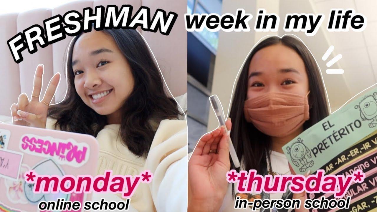 FRESHMAN WEEK IN MY LIFE *before spring break* | online & in person school! Nicole Laeno