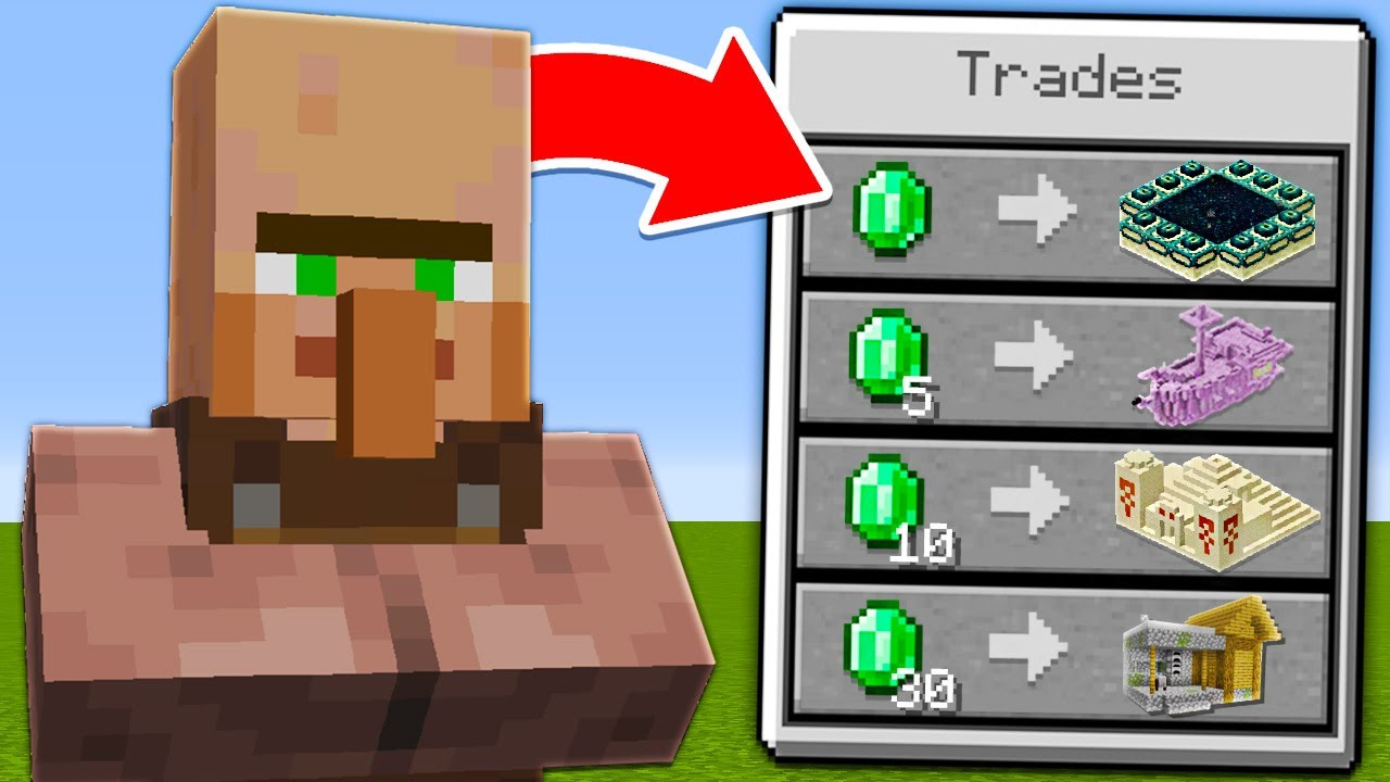 Minecraft, But Villagers Trade Structures…