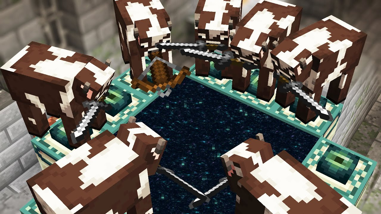Minecraft but Cows beat the game for you