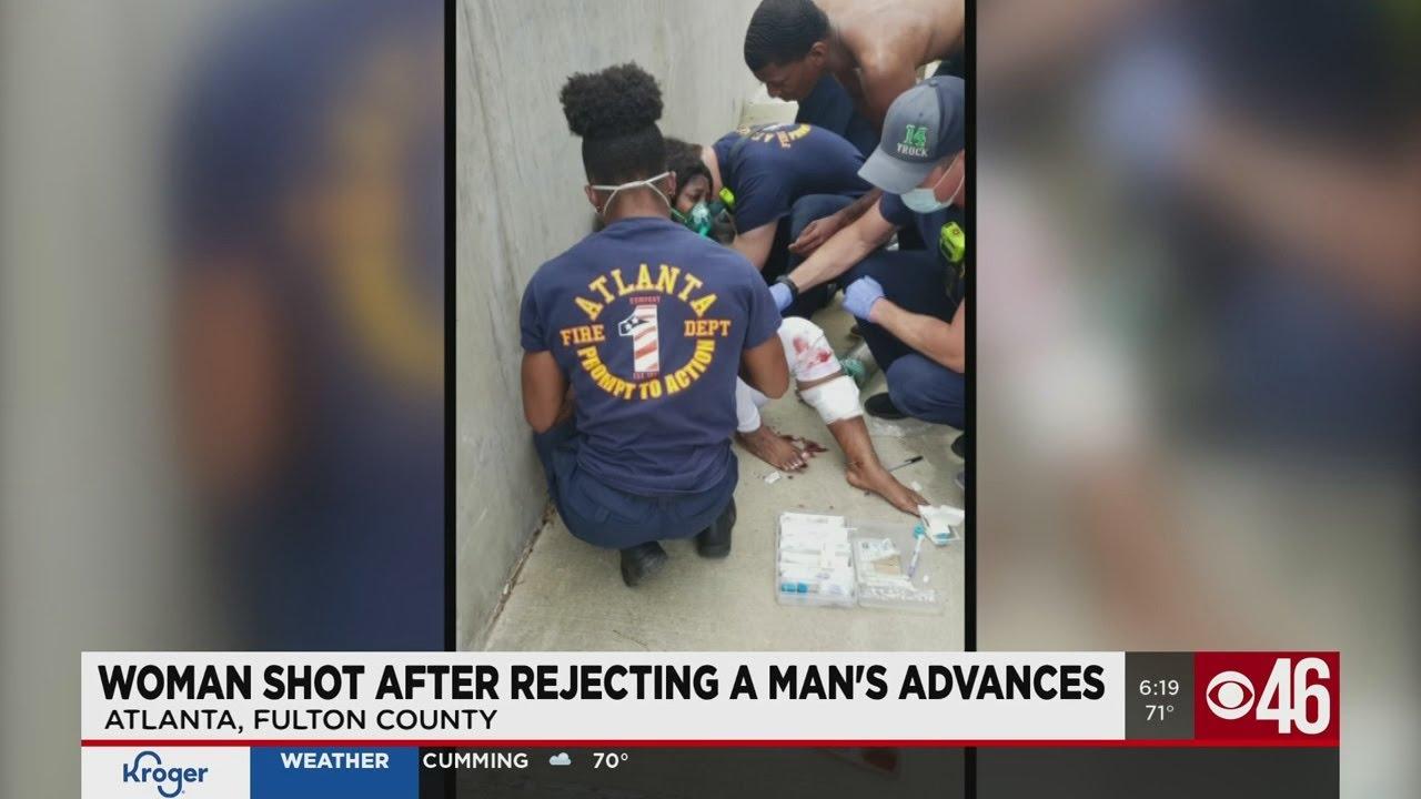 Woman shot after rejecting man's advances