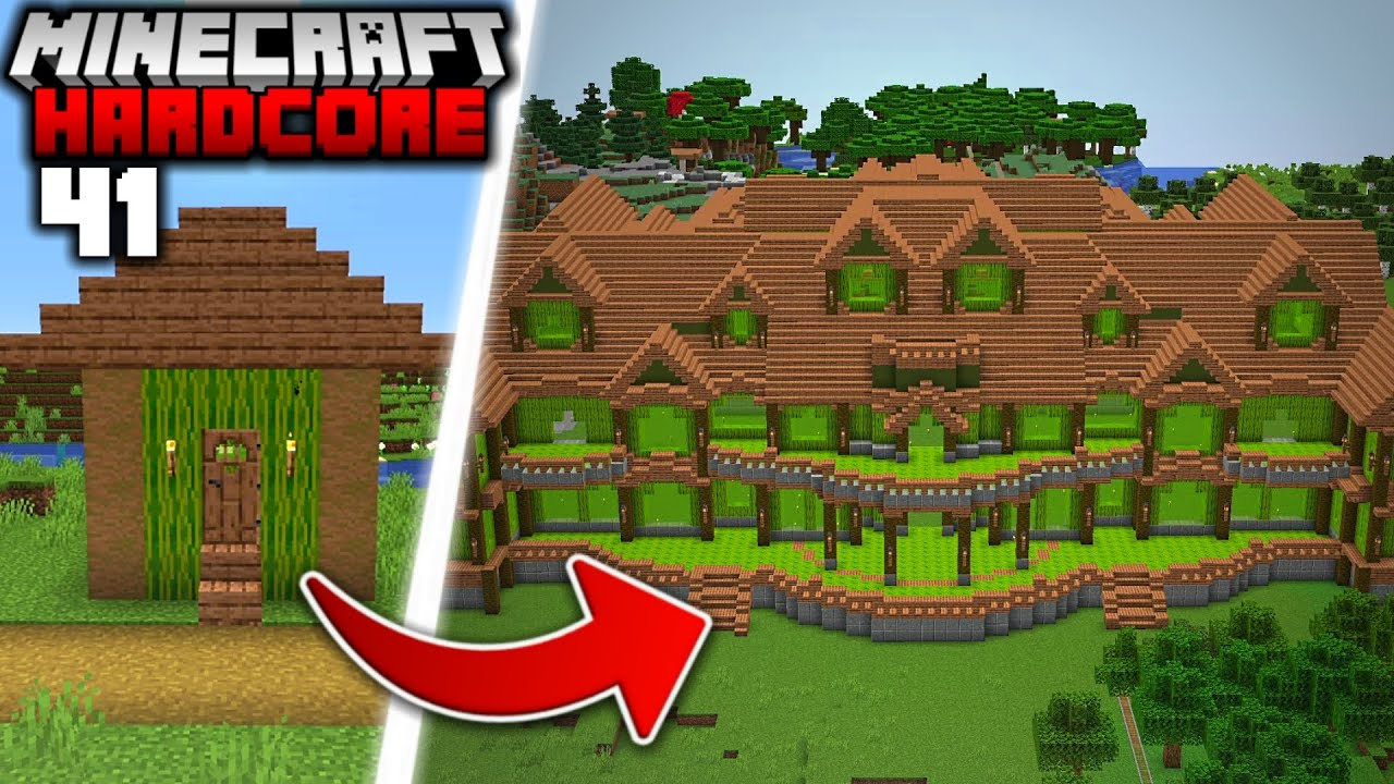 I Built a MANSION out of MELONS in Minecraft Hardcore (#41)