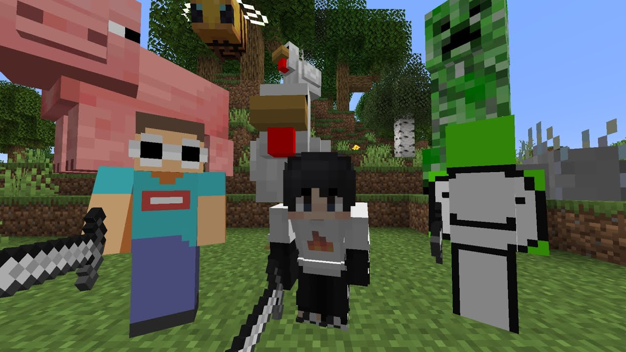 Minecraft, But All Mobs Are Giant…