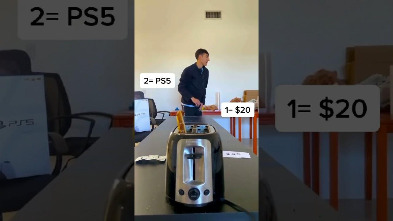 Money Toaster Challenge! 2💰 #shorts