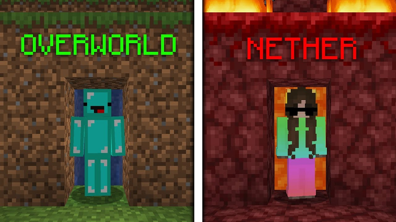 Overworld Vs Nether ESCAPE ROOM Build Battle – Minecraft