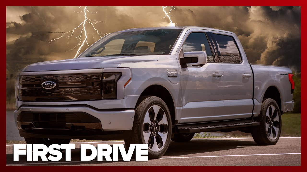 We Ride in the Ford F-150 Lightning All-Electric Pickup Truck. FIRST IMPRESSIONS