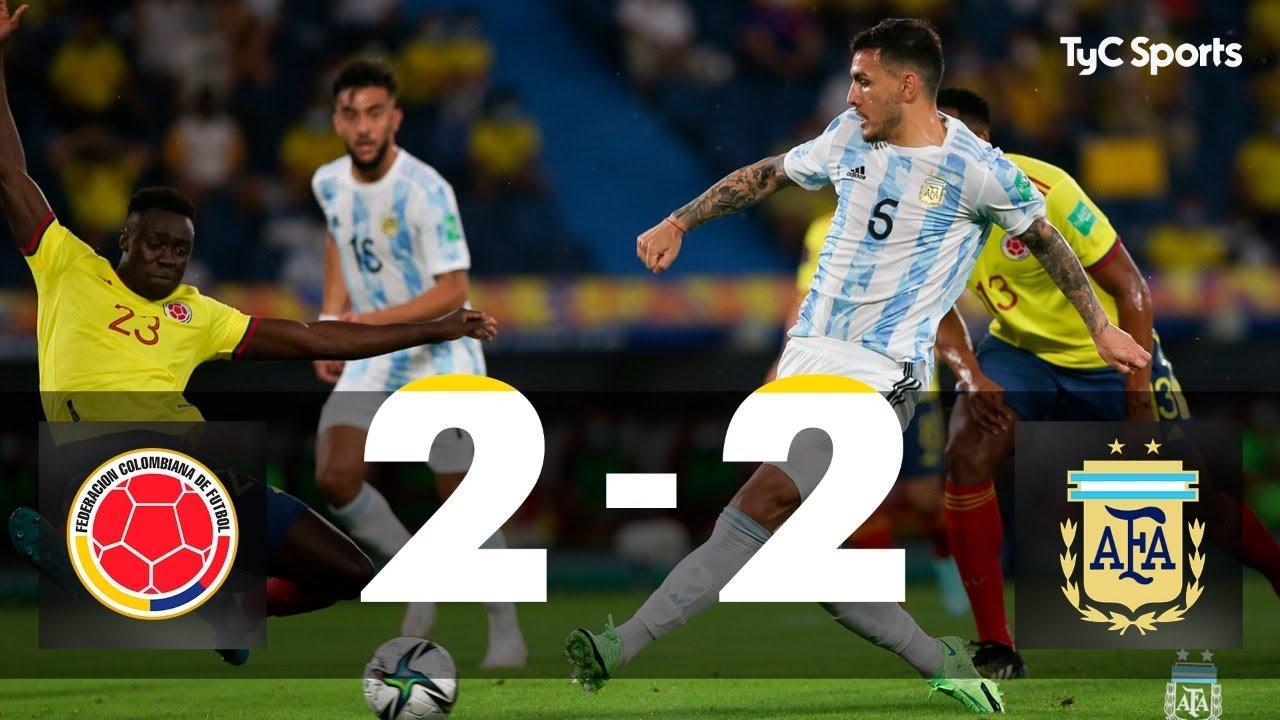 Colombia 2-2 Argentina | Eliminatorias a Qatar 2022 – Fecha 8