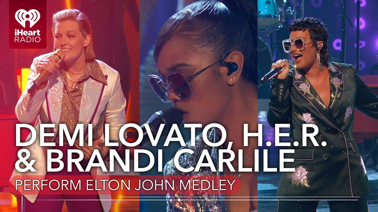 Demi Lovato, H.E.R., & Brandi Carlile Honor Elton John At The 2021 iHeartRadio Music Awards