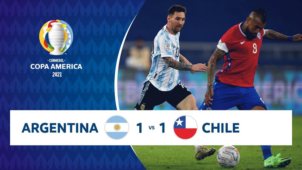 HIGHLIGHTS ARGENTINA 1 – 1 CHILE | COPA AMÉRICA 2021 | 14-06-21