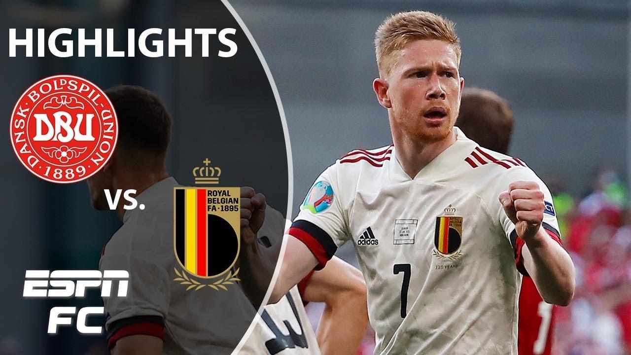 Kevin De Bruyne instrumental in Belgium's comeback win vs. Denmark   Euro 2020 Highlights   ESPN FC