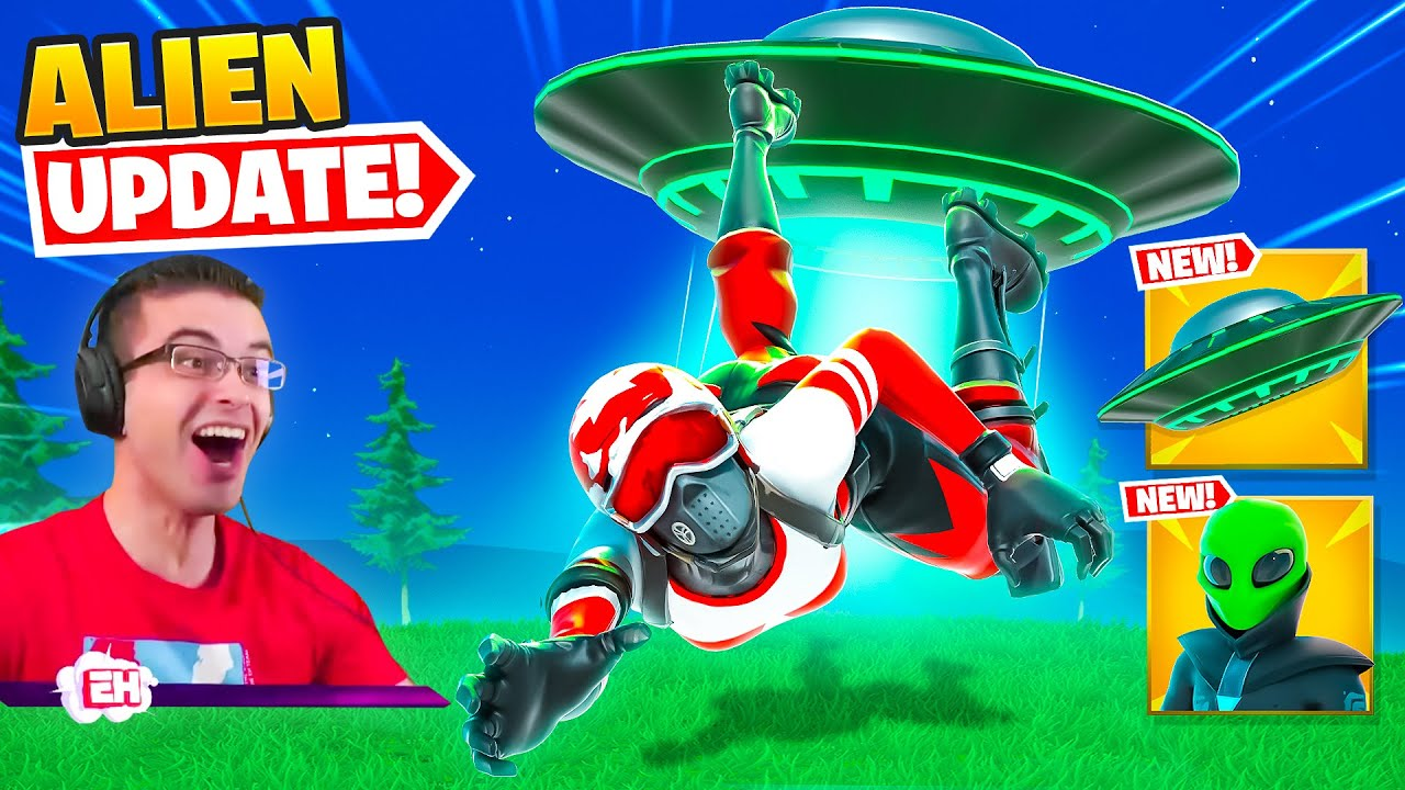 Nick Eh 30 reacts to Aliens in Fortnite!