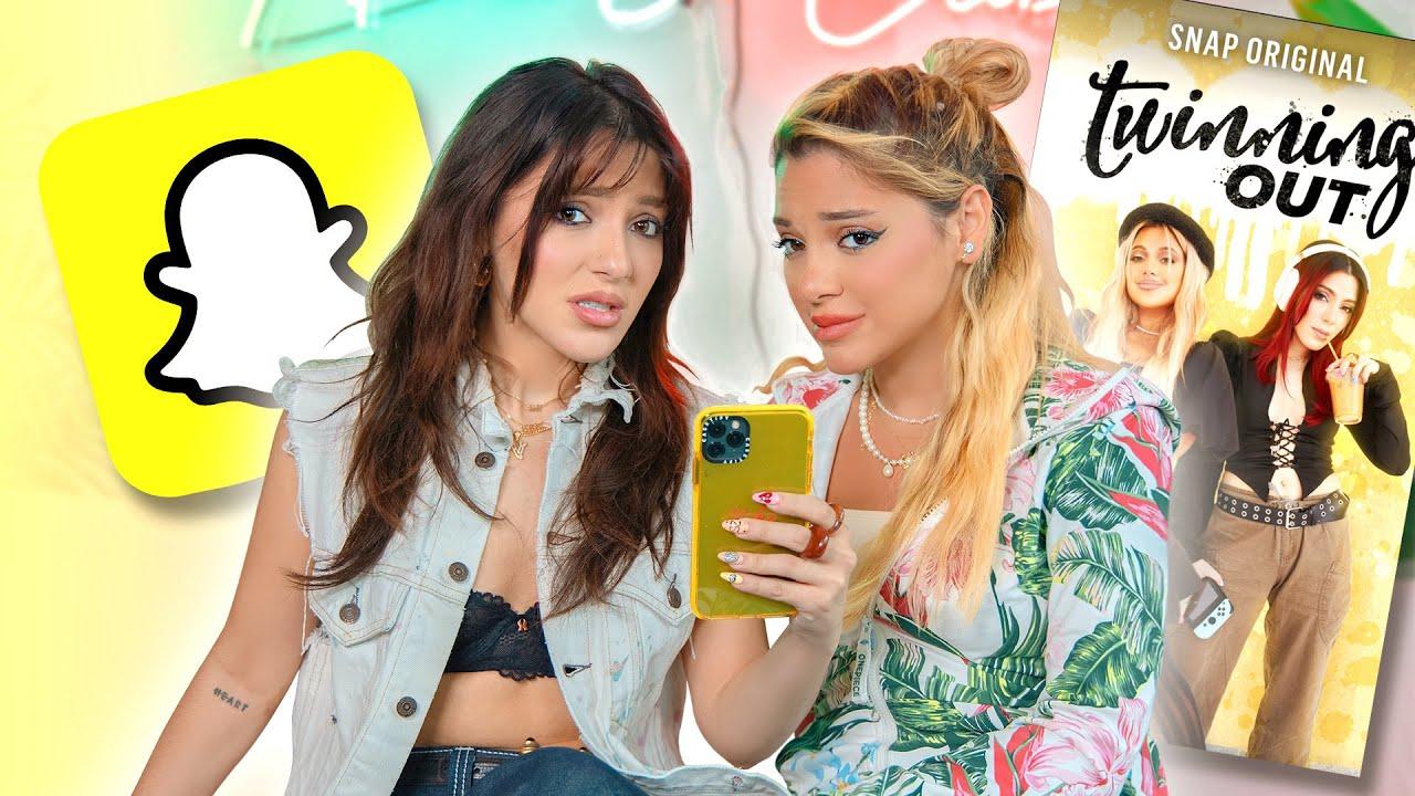 Reacting to our Snapchat Reality Show | Niki and Gabi
