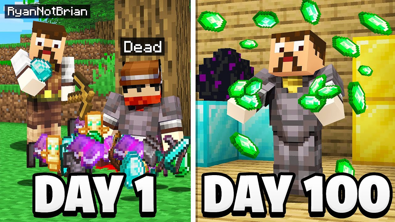 Surviving 100 Days as a Minecraft BANDIT.. here's what happened