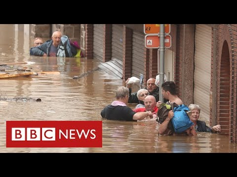 Catastrophic flooding across western Europe as politicians blame climate change – BBC News
