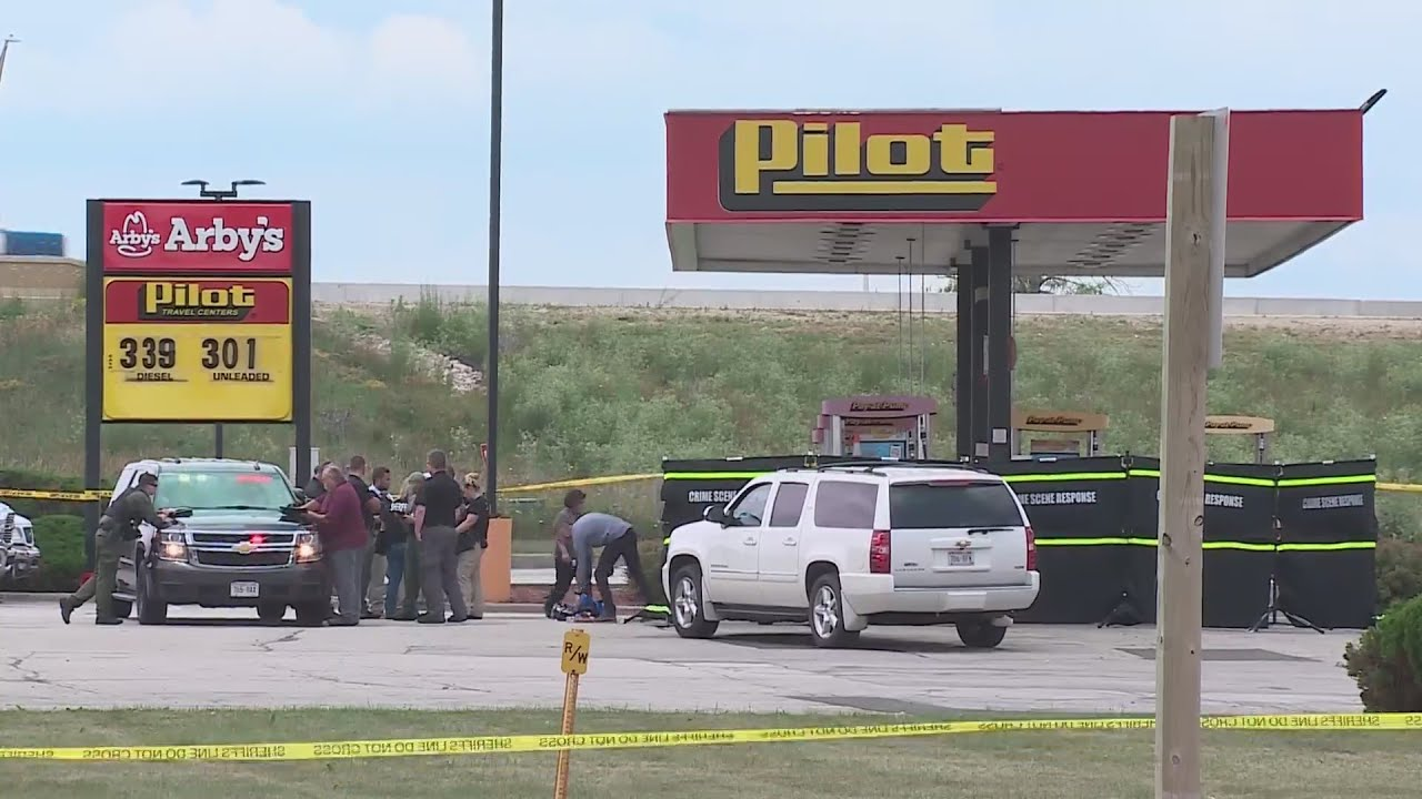 Man 'viciously executed' at Wisconsin gas station; police kill suspect