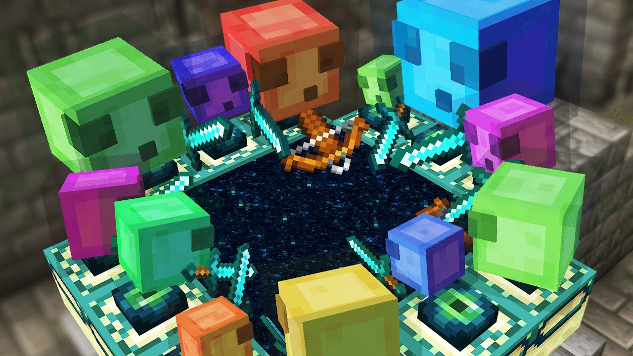 Minecraft But Slimes Beat the game for you…