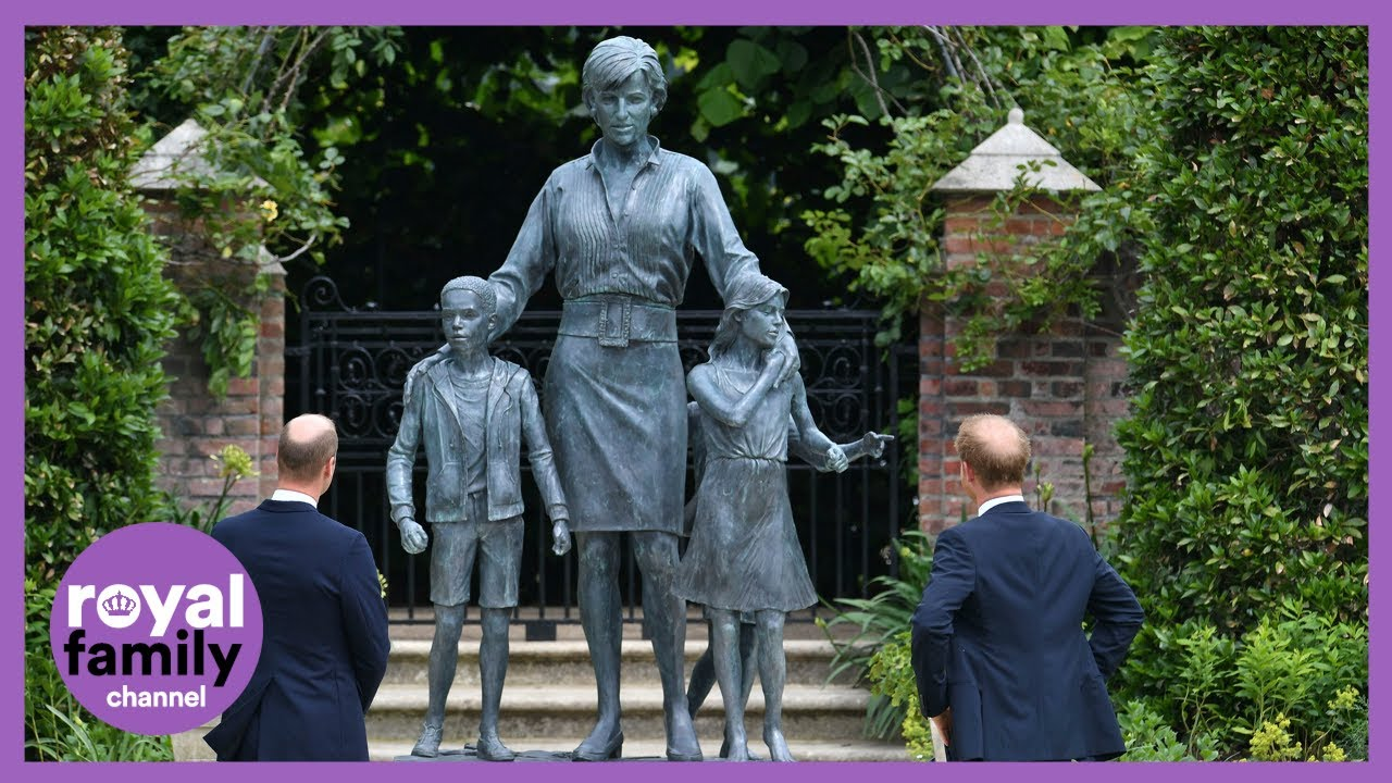 Prince William and Harry Unveil Diana Statue on What Would Have Been Her 60th Birthday